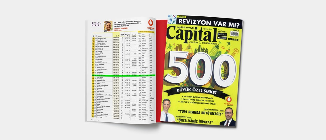 AE Arma-Elektropanç is Listed in Capital 500 Türkiye 2018