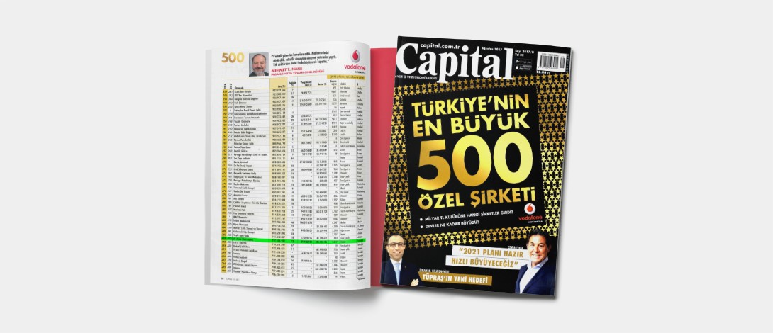 AE Arma-Elektropanç Is Listed In Capital 500 Türkiye 2017