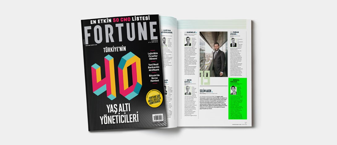 Our CEO Burak Ç. Kızılhan Listed In Fortune 40 Under 40